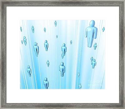 Network Of People Framed Print by Christos Georghiou