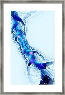 Neural Channel Framed Print by Anastasiya Malakhova