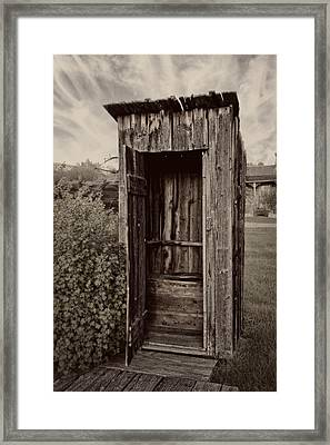 Nevada City Ghost Town Outhouse - Montana Framed Print by Daniel Hagerman