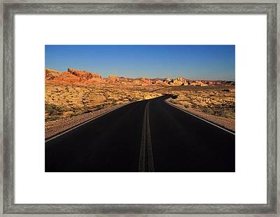 Nevada. Desert Road Framed Print by Anonymous