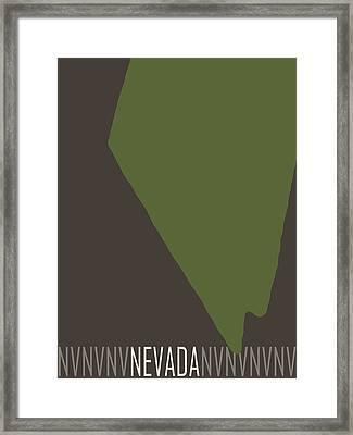Nevada State Modern Framed Print by Flo Karp