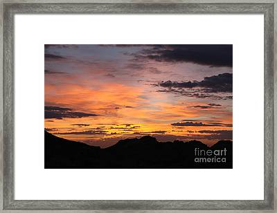 Nevada Sunrise Framed Print by Trekkerimages Photography