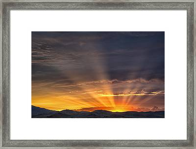 Nevada Sunset Framed Print by Janis Knight