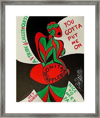 Never A Flaw Bonita Applebum Framed Print by Aliya Michelle