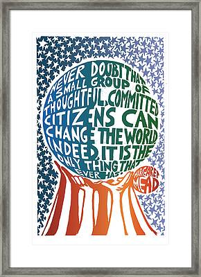 Never Doubt Framed Print by Ricardo Levins Morales