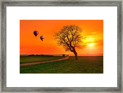 Never Ending Road Framed Print by Midori Chan