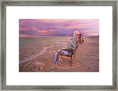 Never Let Fear Decide Your Fate Framed Print by Betsy C Knapp