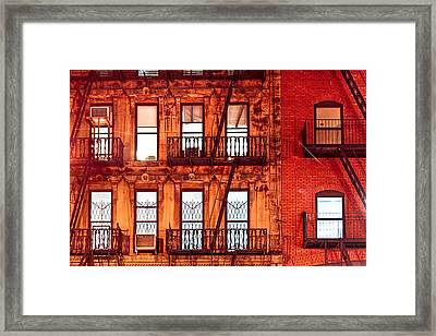 Never Sleep - Nyc At Night Framed Print by Mark E Tisdale