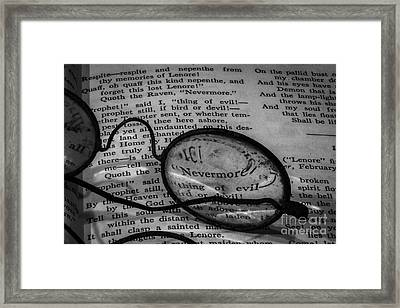Nevermore Framed Print by Mitch Shindelbower