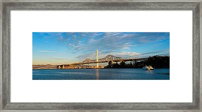 New And Old Eastern Span Framed Print by Panoramic Images