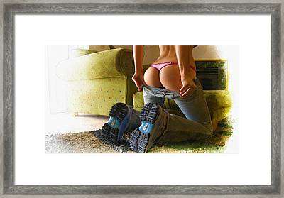 New Balance Framed Print by Don Kuing