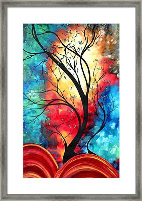 New Beginnings Original Art By Madart Framed Print by Megan Duncanson