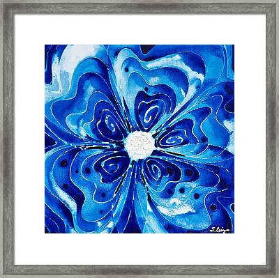 New Blue Glory Flower Art - Buy Prints Framed Print by Sharon Cummings