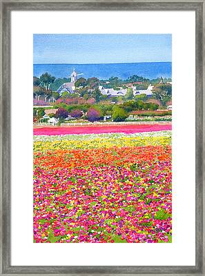 New Carlsbad Flower Fields Framed Print by Mary Helmreich