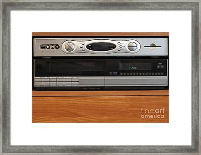 New Dvr With Old Vcr Framed Print by Lee Serenethos