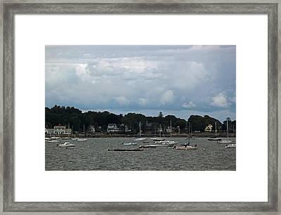 New England Coastal Village Framed Print by Suzanne Gaff