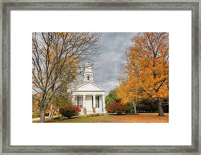 New England Country Church Framed Print by Bill Wakeley
