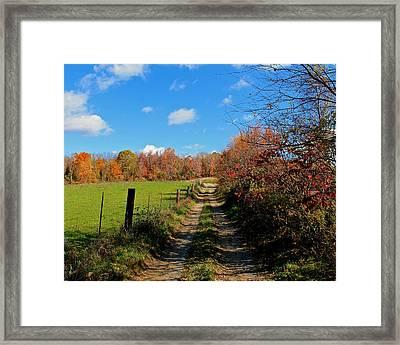 New England Farm Rota Springs Framed Print by Michael Saunders