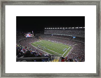 New England Patriots And Tom Brady Framed Print by Juergen Roth