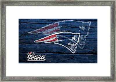 New England Patriots Barn Door Framed Print by Dan Sproul