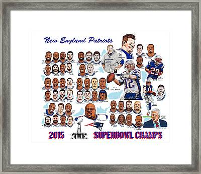 New England Patriots Superbowl Champions Framed Print by Dave Olsen