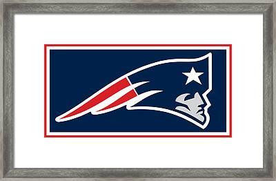 New England Patriots Framed Print by Tony Rubino
