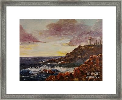 New England Storm Framed Print by Lee Piper