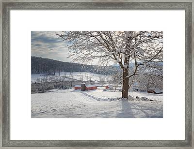 New England Winter Farms Morning Framed Print by Bill Wakeley