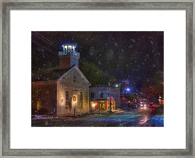 New England Winter - Stowe Vermont Framed Print by Joann Vitali