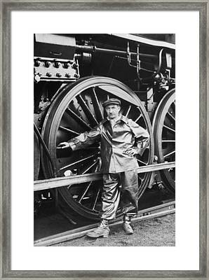 New French Locomotive Framed Print by Underwood Archives