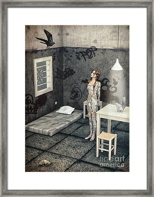 New Friend Framed Print by Jutta Maria Pusl