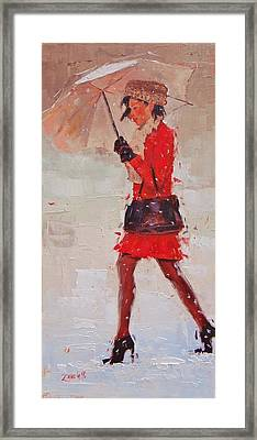 New Fur Hat Framed Print by Laura Lee Zanghetti