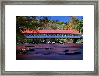 New Hampshire Ashuelot Covered Bridge Framed Print by Juergen Roth
