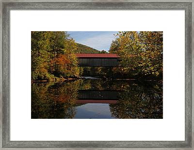 New Hampshire Coombs Covered Bridge Framed Print by Juergen Roth