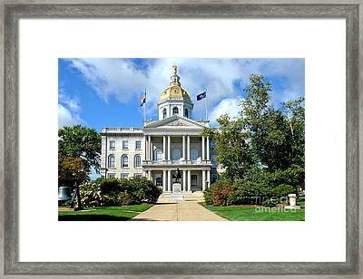 New Hampshire State Capitol Framed Print by Olivier Le Queinec