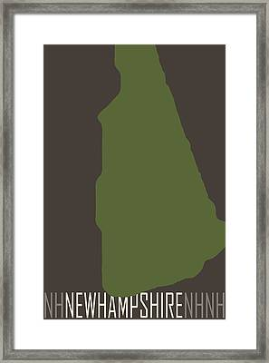 New Hampshire State Modern Framed Print by Flo Karp