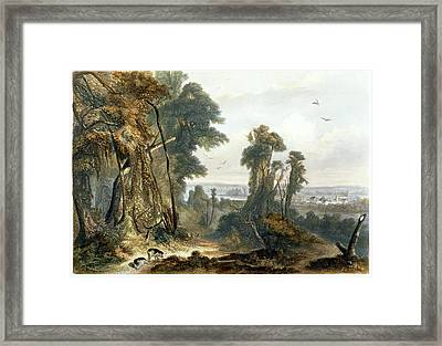 New Harmony On The Wabash, Plate 2 Framed Print by Karl Bodmer