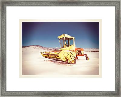 New Holland 910 Windrower Framed Print by Yo Pedro