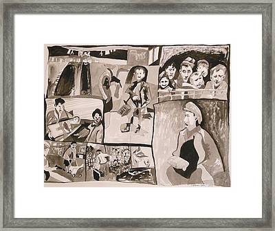 New Hope At The End Of The British Mandate Framed Print by Esther Newman-Cohen