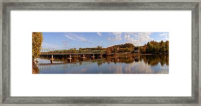 New Hope-lambertville Bridge, Delaware Framed Print by Panoramic Images