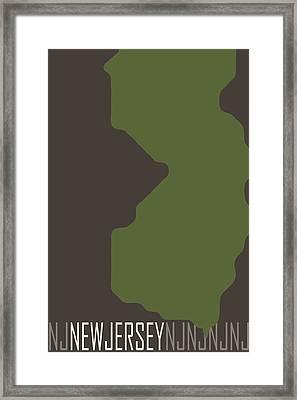New Jersey State Modern Framed Print by Flo Karp