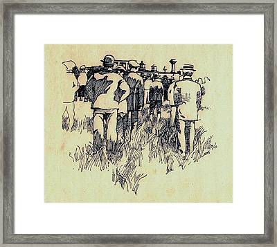 New Line Framed Print by Dale Michels
