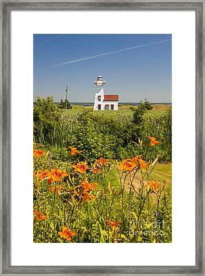 New London Range Rear Lighthouse Framed Print by Elena Elisseeva