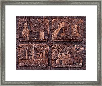 New Mexico Churches Framed Print by Ricardo Chavez-Mendez