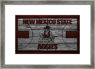New Mexico State Aggies Framed Print by Joe Hamilton