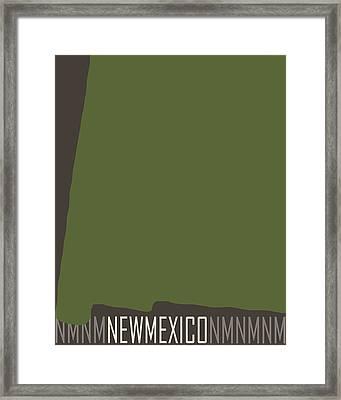 New Mexico State Modern Framed Print by Flo Karp