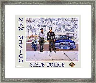 New Mexico State Police Poster Framed Print by Randy Follis