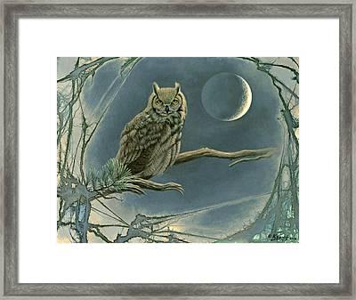 New Moon   Framed Print by Paul Krapf
