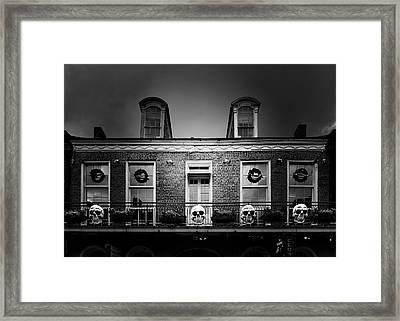 New Orleans- A Skull Paradise Framed Print by Christine Till