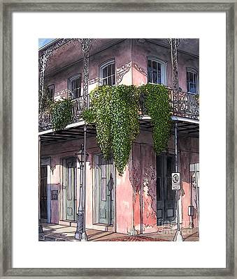 New Orleans Balcony Framed Print by John Boles